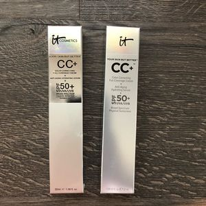 It Cosmetics CC cream tan bundle of 2